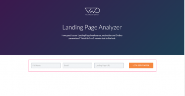 Landing Page Analyzer   Made by VWO